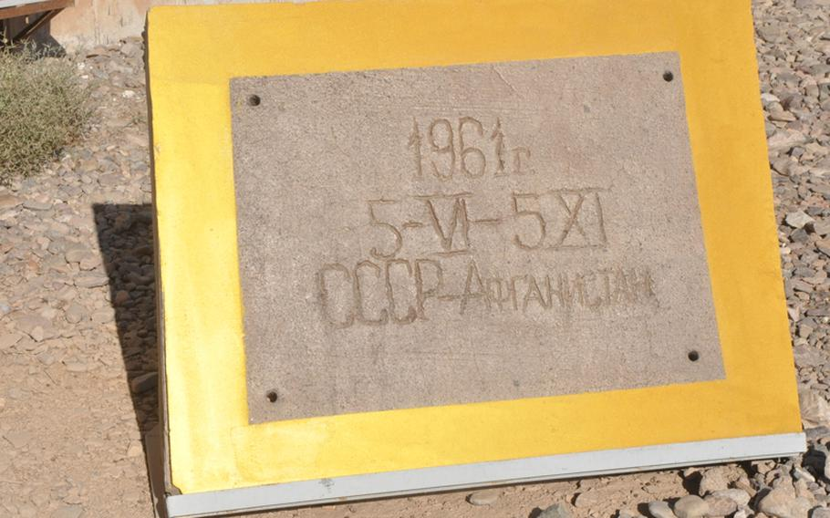 The Soviet military, which began building an airfield near the village of Shindand in 1961, abandoned the base after a futile, decadelong siege of Afghanistan that ended in 1989. This piece of the original runway stands outside the offices of U.S. personnel now occupying Shindand Air Base, home of the Afghan Air Force Academy.
