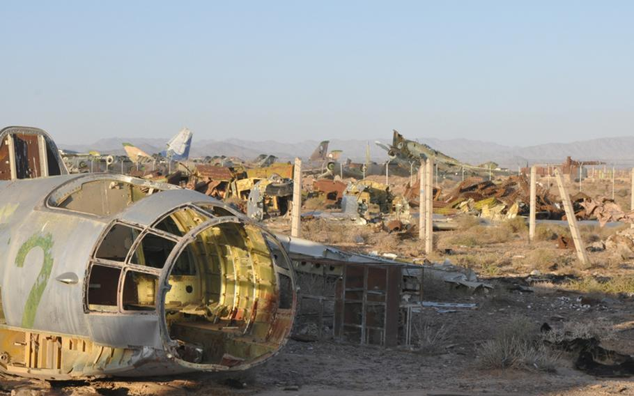 An expanse known as ''the boneyard'' at Shindand Air Base in Herat province holds vestiges of the Soviet occupation of Afghanistan that ended in 1989. Battered husks of dozens of military aircraft litter an area the size of perhaps six or seven football fields.