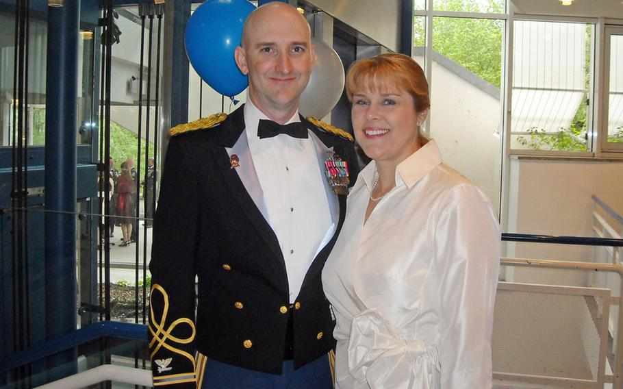 Col. James H. Johnson and his wife Kris at a formal affair in Bamberg, Germany, in the summer of 2009.