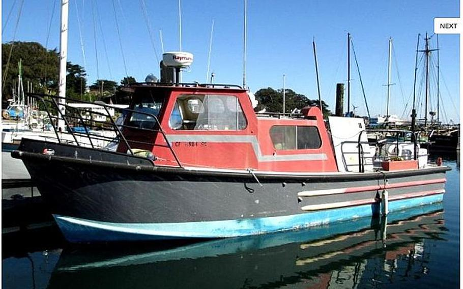 A Thomas Marine USA Military Harbor Patrol Boat is shown in this image from the Government Liquidation website.