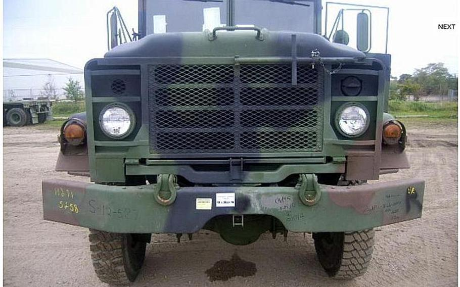 A 5 Ton 6 X 6 Cargo Truck is shown in this image from the Government Liquidation website.