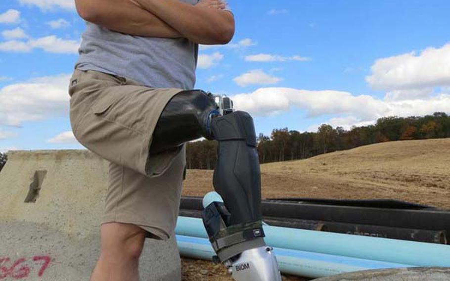 New developments in lower limb prosthetics that mimic the human body have dramatically improved the life of retired Marine William Gadsby, who was wounded by an IED and sniper's bullet in Iraq that ultimately claimed his right leg.