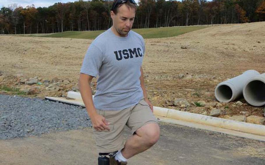 One of the hardest things for lower limb amputees to do is to pick up their leg and prosthetic and step over an obstacle or object. Here, retired Marine William Gadsby shows how easy it is using his X2 microprocessor knee and BiOM ankle.