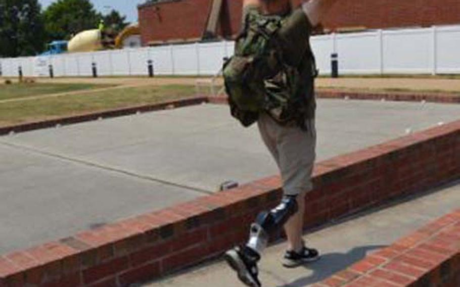 Retired Marine William Gadsby says that prosthetics have dramatically improved his mental well-being and life, and have allowed him to resume a highly active life.