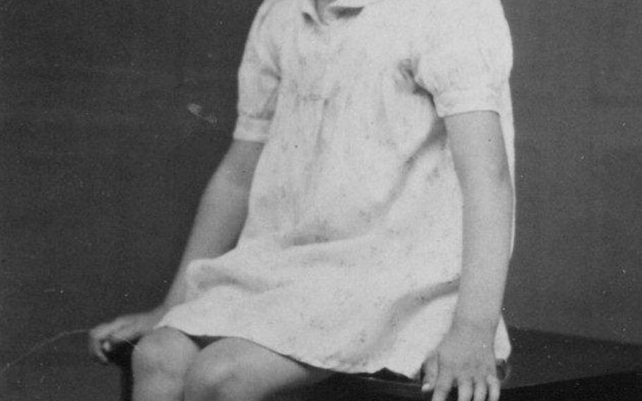 Patricia Everson in 1939; she was five when the war broke out in England.