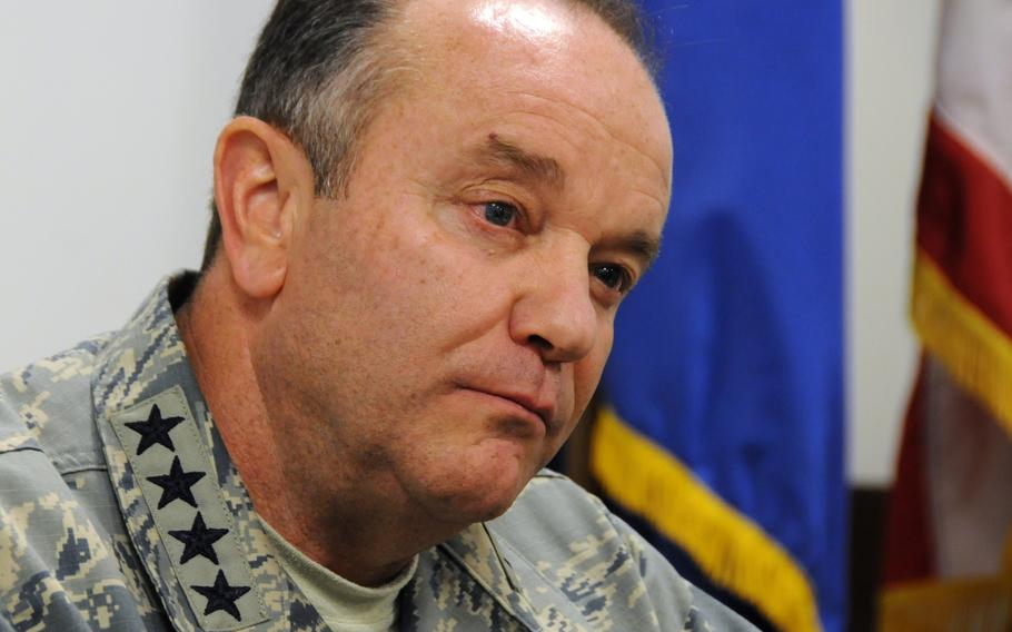 U.S. Air Force Gen. Philip Breedlove, NATO supreme allied commander Europe and head of U.S. European Command, seen in a photo from May 30, 2013, during an interview in Naples, Italy.   Sandra Jontz/Stars and Stripes