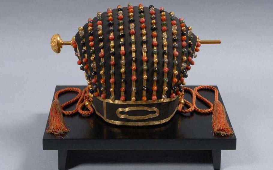 The surviving Ryukyu Kingdom crown is kept safe in climate-controlled storage at an Okinawa museum.