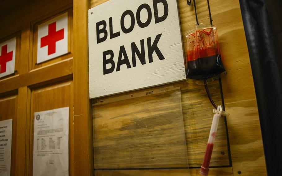 The blood bank at Kandahar Air Field, Afghanistan receives and ships blood as one of the final stops for blood originating from the U.S. From here, the blood will be shipped to  U.S. military field hospitals in Regional Command South.