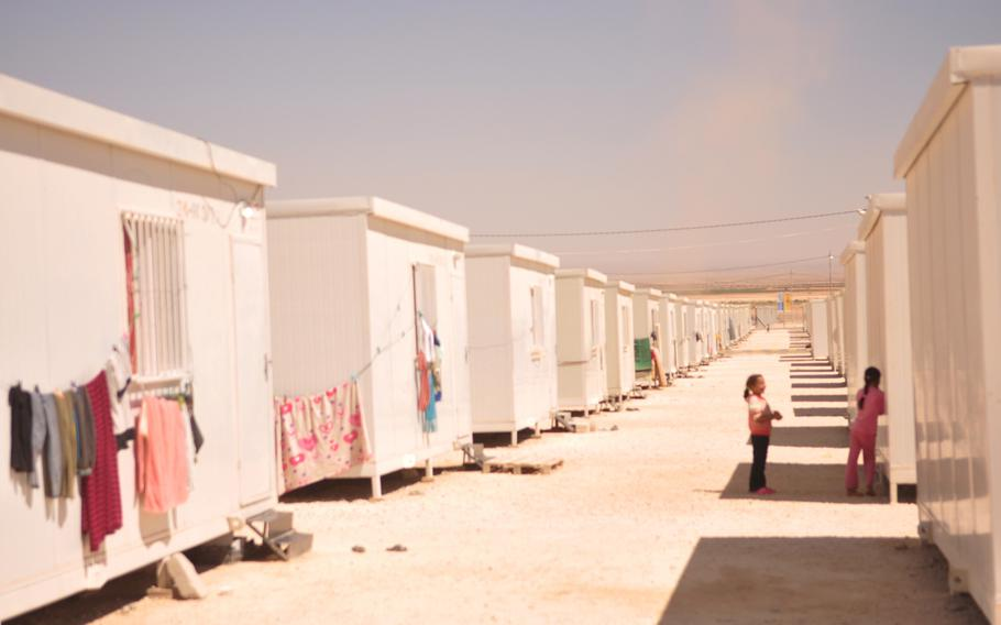 A camp for Syrian refugees in northern Jordan that is run by the United Arab Emirates Red Crescent Society provides a trailer for each family, though a second may be provided depending on needs.