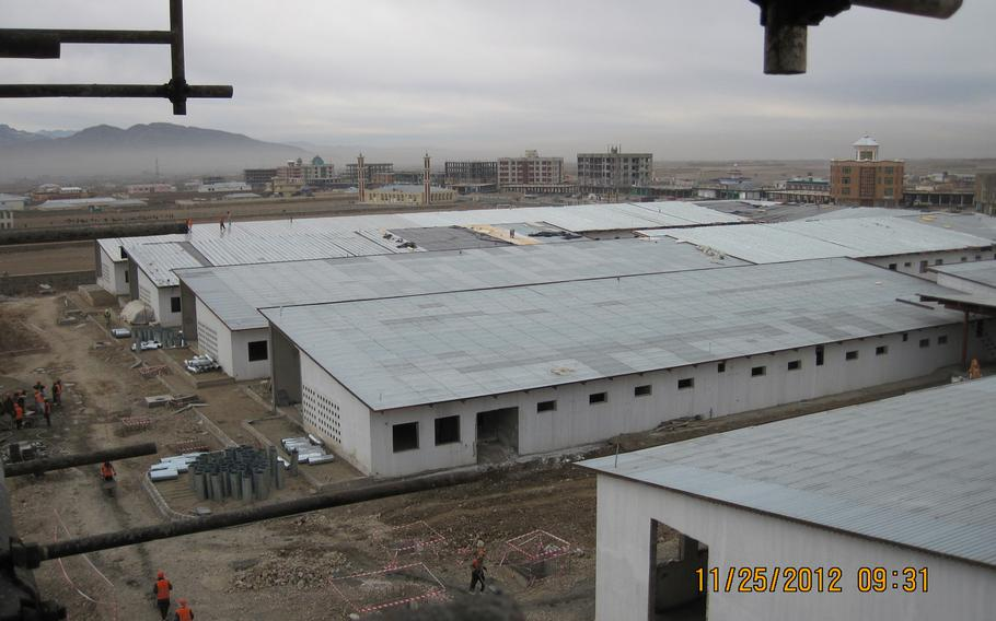 The Gardez Hospital under construction in Paktiya province in Afghanistan is two years behind schedule. According to the Special Inspector General for Afghanistan Reconstruction, a contractor charged enormous fees for fuel and other items.  Courtesy SIGAR