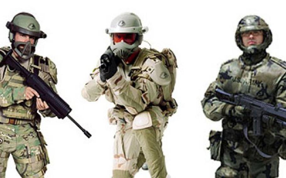 The future warfighter uniform will incorporate new helmet technologies, sensors, communication devices, hearing protection and more.