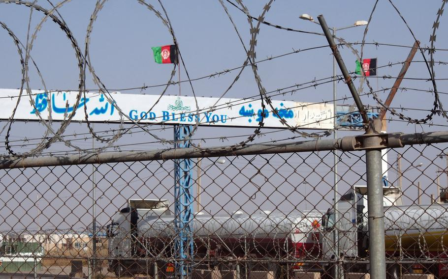 Afghanistan-Iran border, a waypoint for illegal drugs.