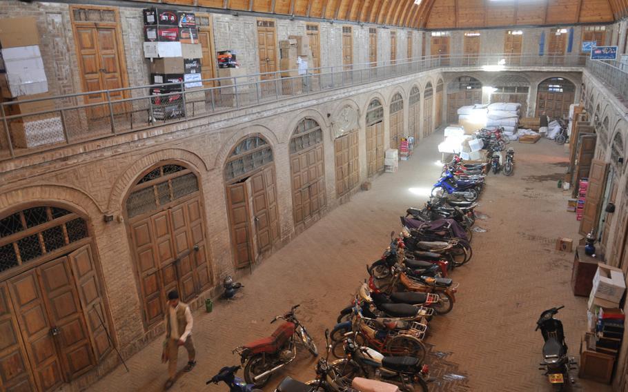 Historic bazaar in central Herat, Afghanistan.
