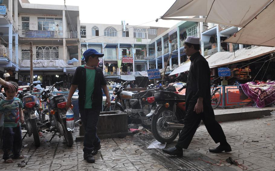 Market in central Herat, Afghanistan.