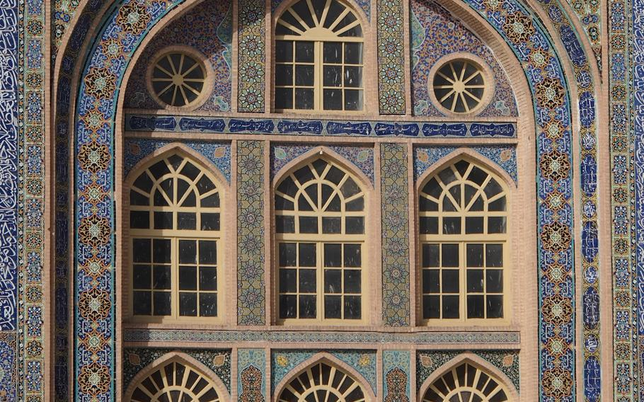 A building in the inner courtyard of the Jami Mosque in Herat, Afghanistan.