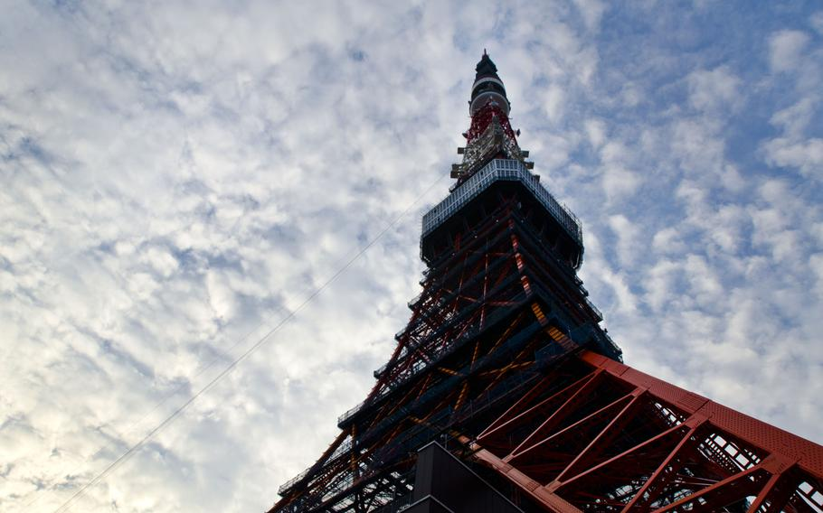 Looking to the sky, unsuspecting soon-to-be victims might not realize that the ground below Tokyo Tower was crawling with zombies on Halloween.