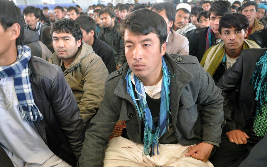 Afghan Shias attend Ashura services Thursday in the main mosque of Bamiyan, a stronghold of Afghanistan's Shia Hazara minority in the center of the country. Ashura is a day of mourning for Shia Muslims, commemorating the martyrdom of Hussein Ibn Ali, grandson of the prophet Muhammad