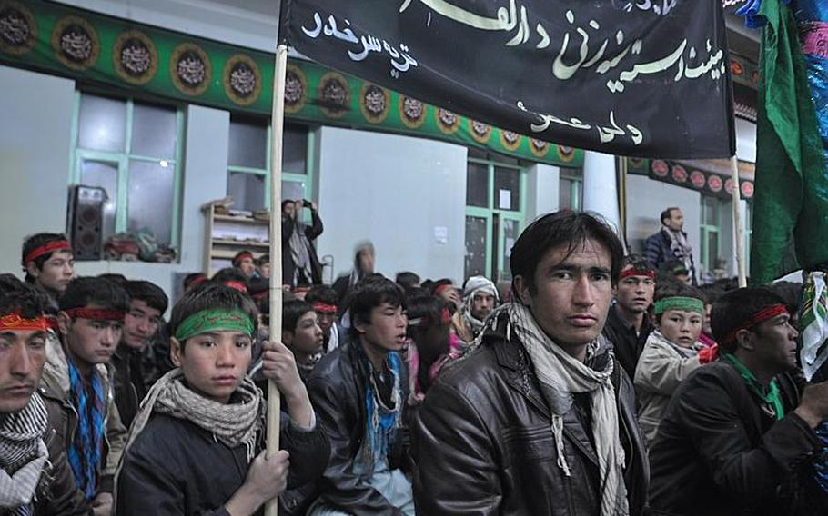Worshipers gather at a mosque in Bamiyan, Afghanistan, observe Ashura, one of the holiest days of the year for Shia Muslims.