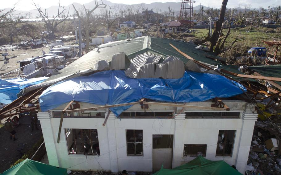 A view of the field hospital at Tacloban Airport, Tacloban, Philippines.