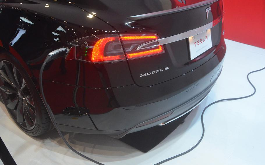 66p na     Tesla's Model S allows drivers to charge their cars overnight, but like they would their cell phones.