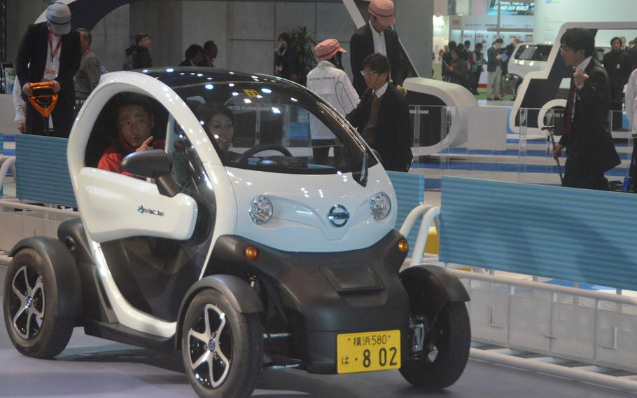 The Nissan New Mobility electric concept car as a range of about 60 miles per charge, and a top speed of roughly 50 mph.