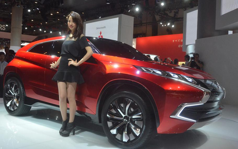 Mistubishi presents one of its latest SUV concepts at the 2013 Tokyo Motor Show.