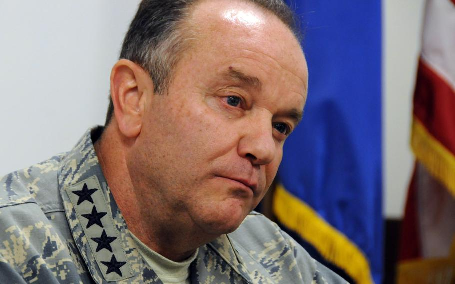 U.S. Air Force Gen. Philip Breedlove, NATO supreme allied commander Europe, during an interview in Naples, Italy, May 30, 2013.