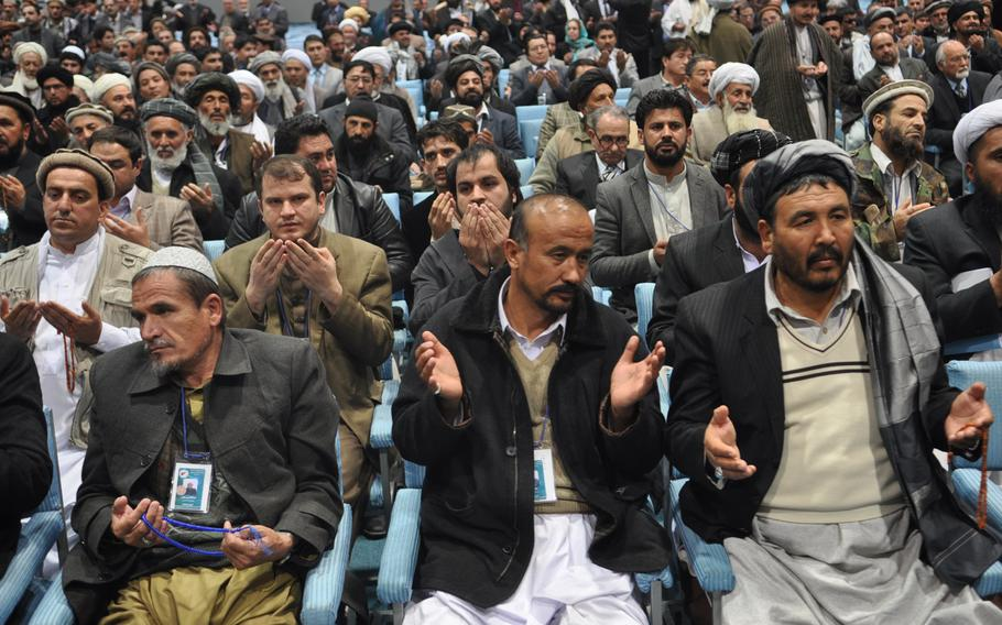 Delegates to Afghanistan's Loya Jirga convened to consider a proposed security agreement with the U.S. that would keep a residual military training and assistance force in Afghanistan past the end of 2014. The jirga approved the pact, which goes to parliament for a vote and must ultimately be signed by Karzai, who has endorsed it.   Heath Druzin/Stars and Stripes