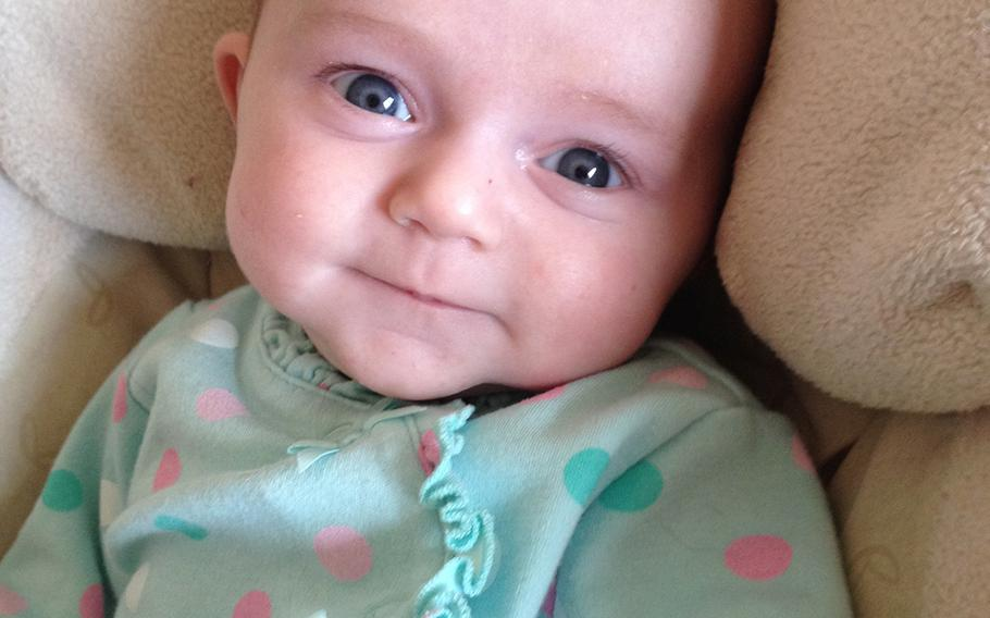 Violet Ann Bailey, daughter of Maj. Marc Bailey and his wife, Sallie, was born Aug. 30. The couple endured years of infertility treatments before successfully conceiving in late 2012.
