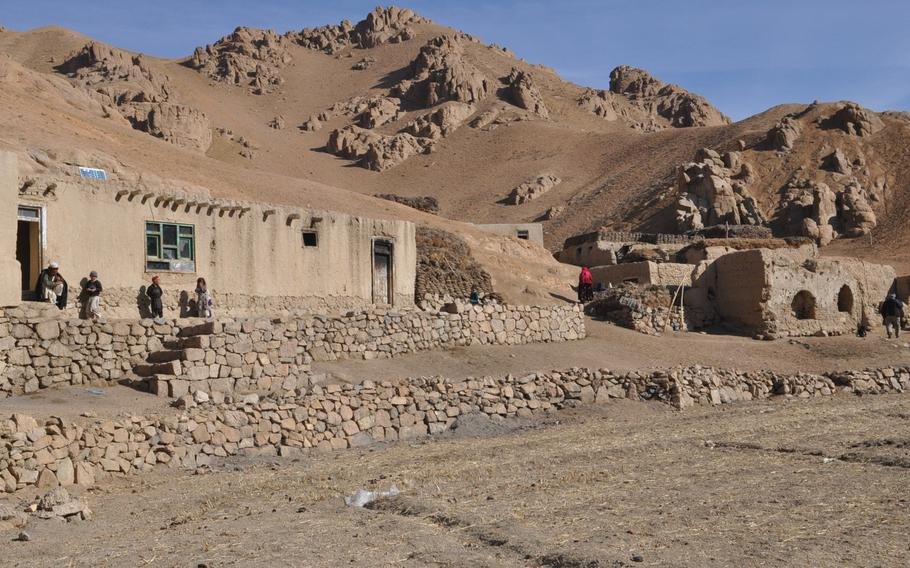 The village of Khushtara, nearly two miles high in the Hindu Kush mountains of Afghanistan. Here, like in many high-elevation villages in the country, residents say the timing of the next presidential election, slated for April, could disenfranchise them because thick snow cover and potentially bad weather may keep many from voting.