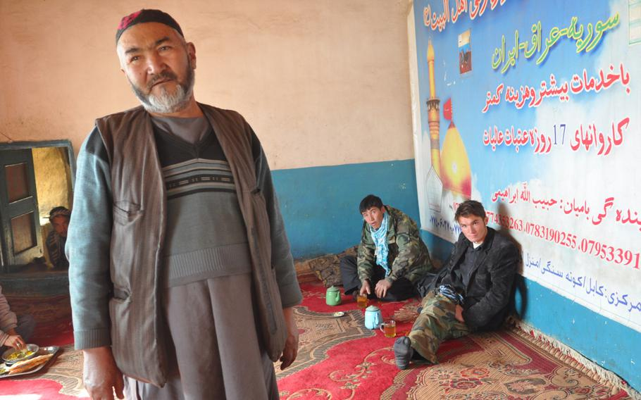 Abdullah Hamid, 60, runs a small hotel and restaurant in Qarganato, a small village high in the mountains of Bamiyan province, Afghanistan. Like many in the area, Hamid says the timing of the Afghan presidential election, set for April, means those in his and surrounding villages may not be able to vote due to deep snow.