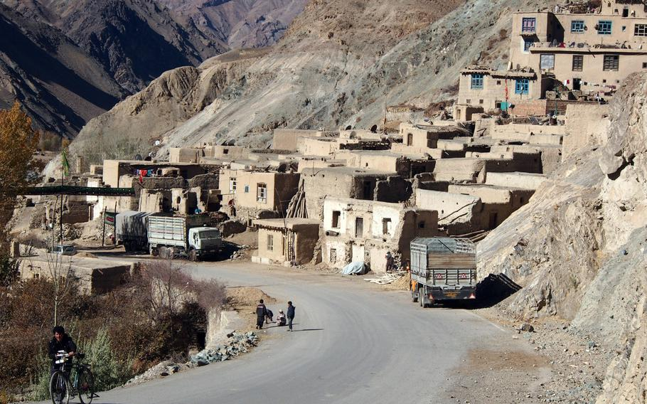 The town of Shumbul, Afghanistan, in Bamiyan province's Shikari valley, where insurgent attacks have been rising since international troops left the province in April. Bamiyan officials say they need more help and went so far as to request an international military base be built in the province at a recent national council of leaders, known as the Loya Jirga.