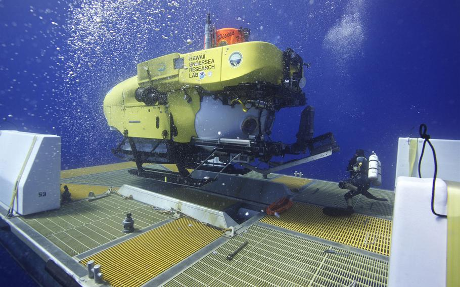 After finding an anomaly in maps of the ocean floor, the Hawaii Undersea Research Laboratory's Pisces V deep-diving manned submersible was sent to investigate. On Aug. 1, 2013, it located the I-400, a relic from World War II.