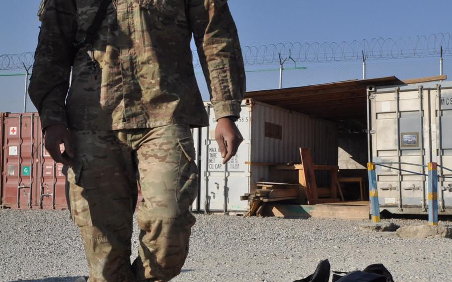 Sgt. 1st Class Joseph Marrero spent Christmas Eve with his unit doing inventory at Forward Operating Base Gamberi in Afghanistan's Laghman province. Despite the holiday, work continued as usual at military bases throughout the country.