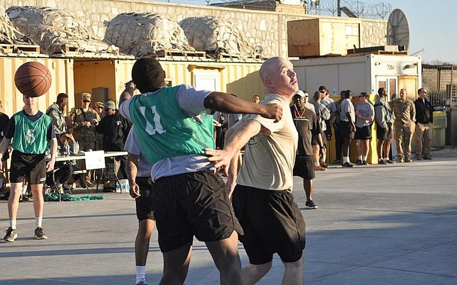 A Christmas Day basketball game at Forward Operating Base Gamberi in Laghman Province got competitive.