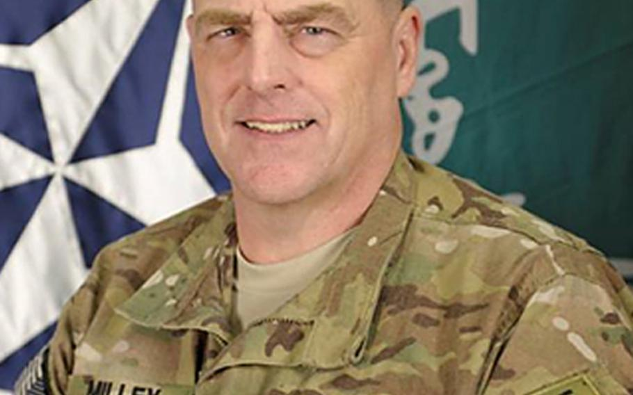 Lt. Gen. Mark A. Milley, commander of the International Security Assistance Force Joint Command.