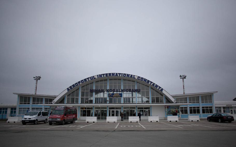 The civilian terminal at Constanta, Romania's international airport is adjacent to and shares a runway with Mihail Kogalniceanu Air Base, which is host to a temporary U.S. transit center through which American personnel will process on their way to and from the war in Afghanistan.