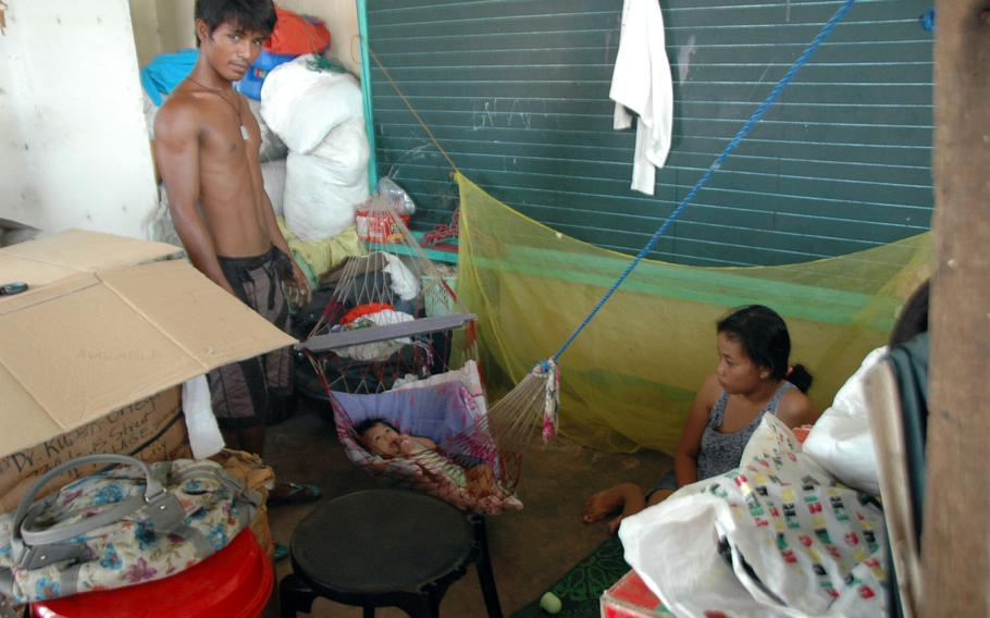 This Filipino family is still living inside a schoolhouse in Tacloban, eight months after their home was destroyed by Typhoon Haiyan.