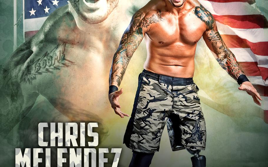 Former soldier Chris Melendez will make his debut in TNA wrestling on Sept. 10, 2014. Melendez lost his lower left leg in an IED blast in Iraq in 2006.