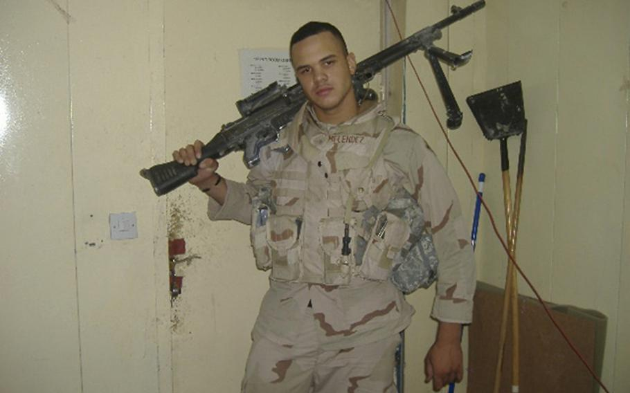 Chris Melendez served with the 4th Infantry Division before he was injured in an IED attack that cost him his left leg in Iraq in 2006.