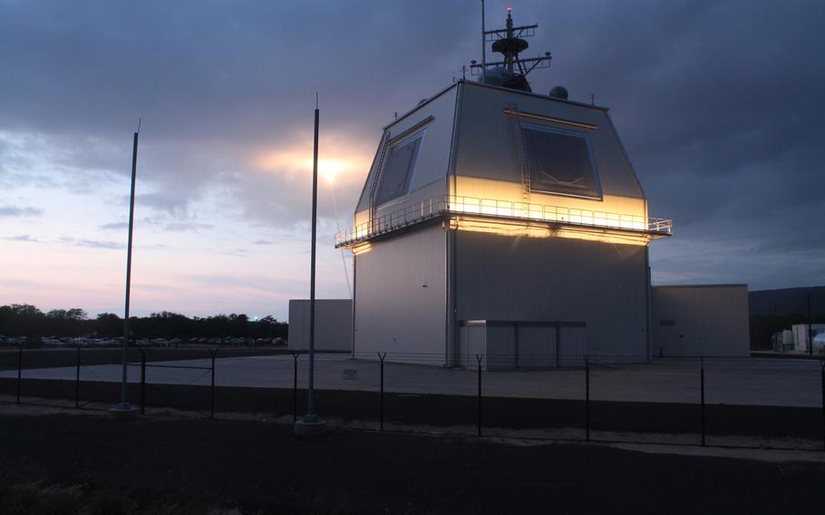 The Aegis Ashore weapon system launched an SM-3 Block IB guided missile during a test from Kauai, Hawaii, on May 21, 2014. The Navy will commission its new missile defense base in southern Romania on Friday, one of two European land-based interceptor sites.