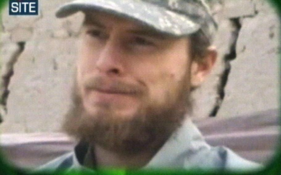This picture  made from video released Wednesday April 7, 2010, by the Taliban via the Site Intelligence Group shows U.S. soldier Bowe Bergdahl.  Captured in 2009, Bergdahl was released by the Taliban in May 2014.