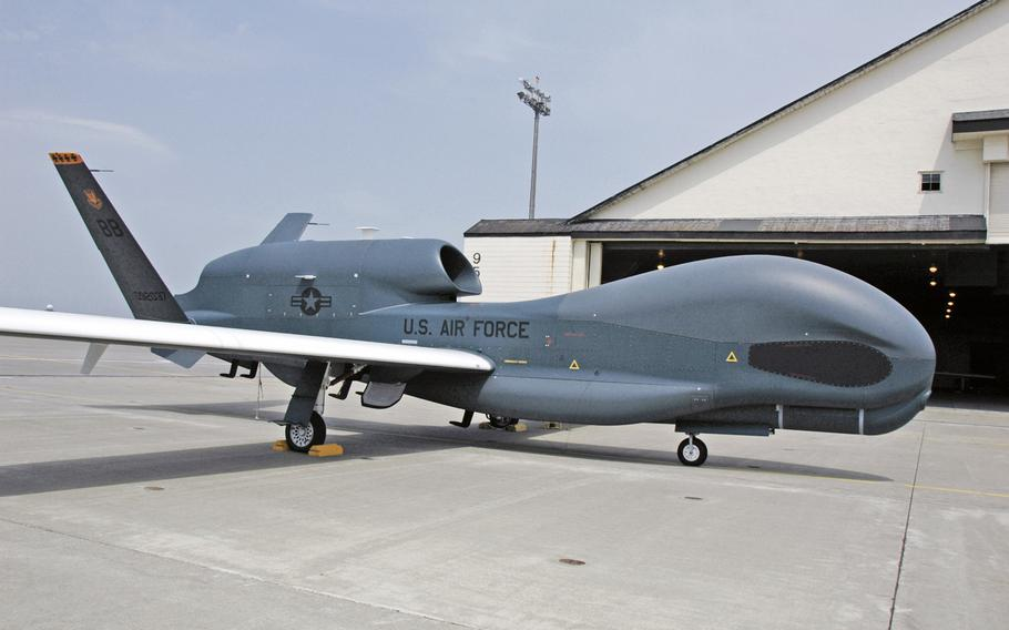 The U.S. government has approved the sale of RQ-4 Global Hawks, like the one pictured here, to South Korea.