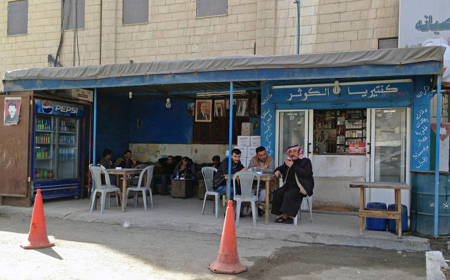 A streetside caffee in Jordan's southern city of Maan, considered a hotspot for Islamic radicalism, on Jan.24, 2015. The city has seen violent pro-Islamic State demonstrations in the past year.