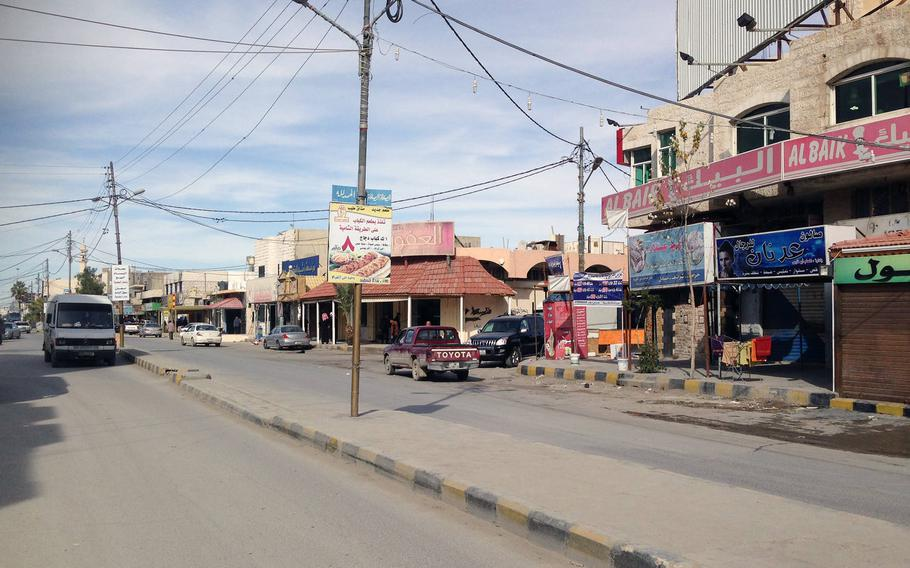 street scene in Jordan's southern city of Maan, considered a hotspot for Islamic radicalism, on Jan.24, 2015. The city has seen violent pro-Islamic State demonstrations in the past year.
