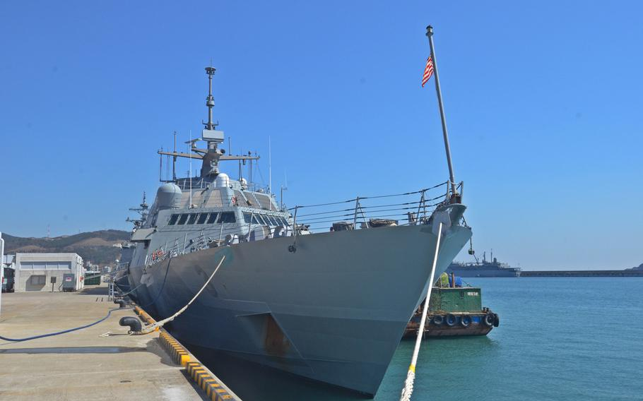 The USS Fort Worth remains in port Saturday in Busan, after finishing its part of Foal Eagle, a bilateral annual exercise conducted with South Korea.