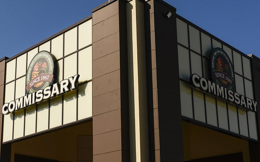 The entrance to the commissary at Ramstein Air Base, Germany. A RAND study says raising prices in military commissaries to offset decreases in tax-payer support could cause a drop in commissary revenues.