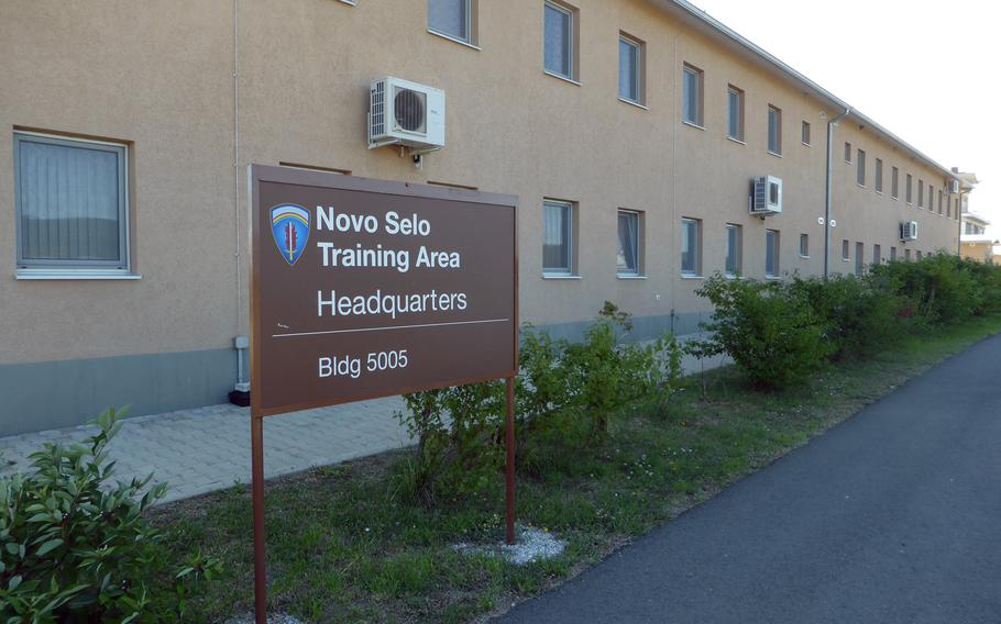 The American headquarters at the Novo Selo Training Center, Bulgaria, June 26, 2015. The American side of the base opened more than two years ago.
