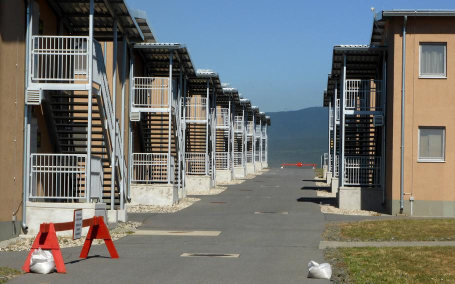 Rows of barracks sit on the American side of the Novo Selo Training Area in Bulgaria, June 26, 2015. A $50 million construction project will see the addition of nearly two dozen barracks at the base.