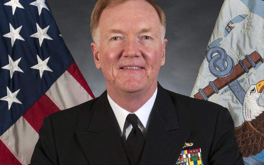 Vice Adm. James Foggo III, 6th Fleet  commander.